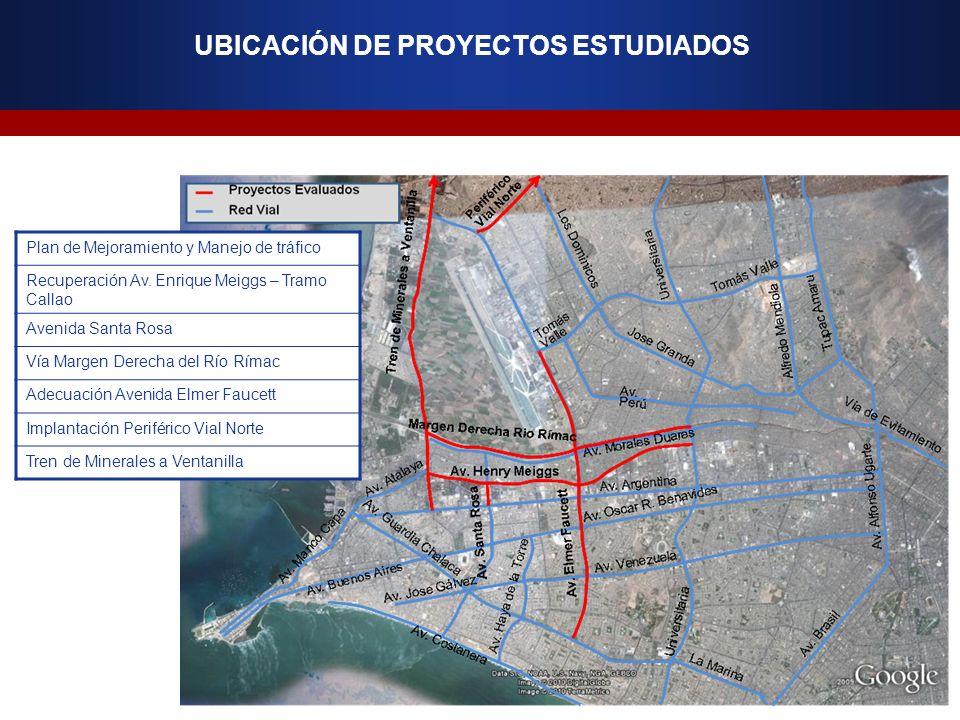 Plan de Mejoramiento y Manejo de tráfico Recuperación Av. Enrique Meiggs – Tramo Callao Avenida Santa Rosa Vía Margen Derecha del Río Rímac Adecuación