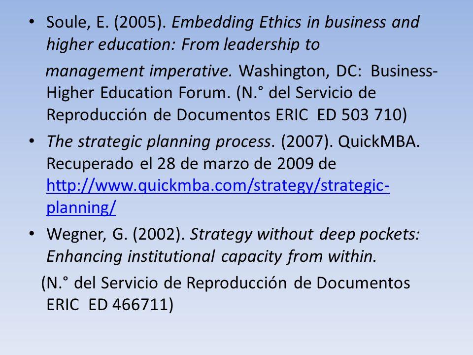 Soule, E.(2005).