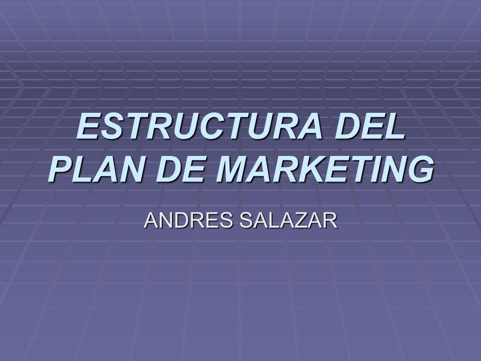 ESTRUCTURA DEL PLAN DE MARKETING ANDRES SALAZAR