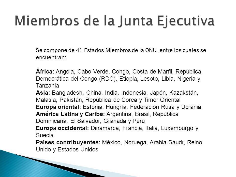 Se compone de 41 Estados Miembros de la ONU, entre los cuales se encuentran: África: Angola, Cabo Verde, Congo, Costa de Marfil, República Democrática