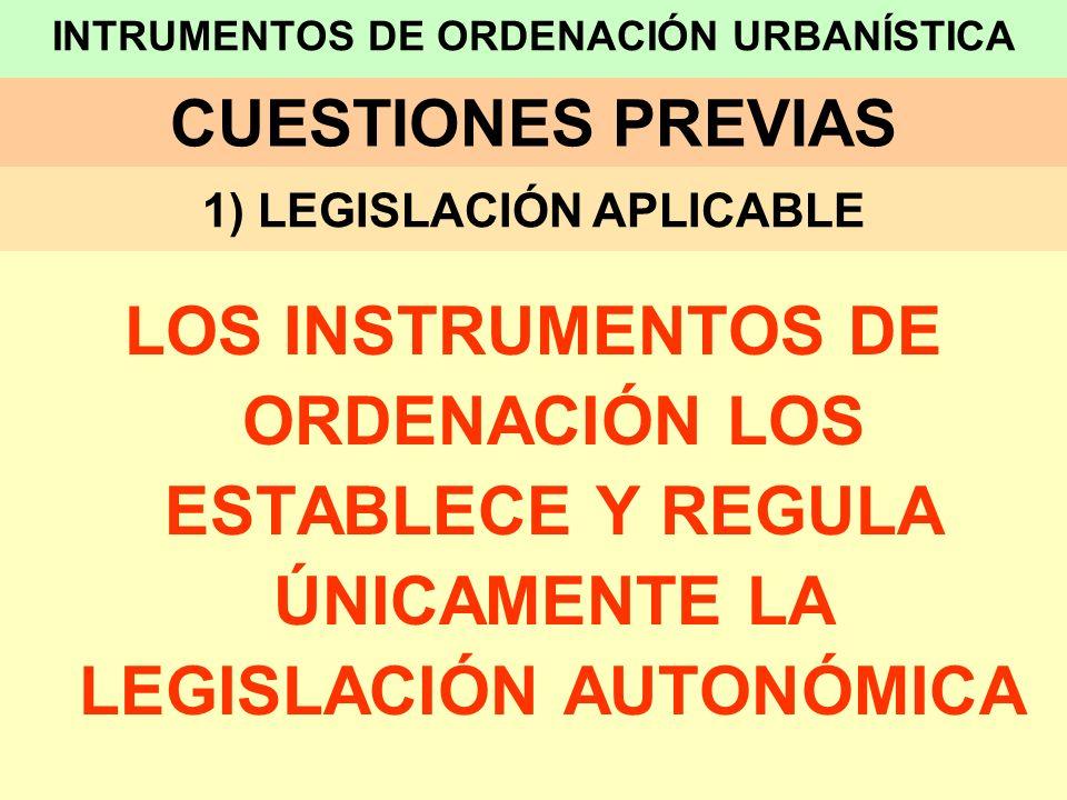 LOS INSTRUMENTOS DE ORDENACIÓN URBANÍSTICA EN EL TRELOTENC00 1.- DENOMINACIÓN INSTRUMENTOS DE PLANEAMIENTO URBANÍSTICO B) PLANES DE DESARROLLO: B1) ESTUDIO DE DETALLE
