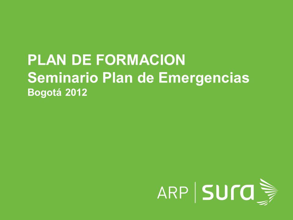 ARP SURA Objetivo general: Comprender la importancia de la prevención, preparación y respuesta inicial ante situaciones de emergencia, como herramienta para la mitigación de los siniestros, sobre las personas, los bienes, la productividad de las empresas y el impacto ambiental.