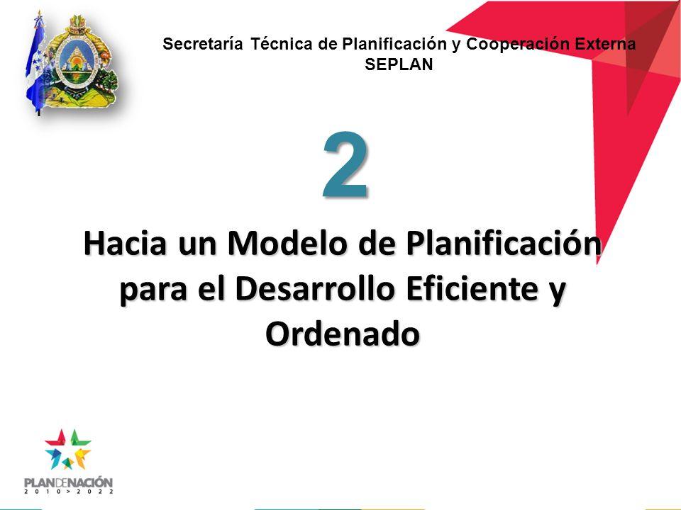 Hacia un Modelo de Planificación para el Desarrollo Eficiente y Ordenado 2 Secretaría Técnica de Planificación y Cooperación Externa SEPLAN