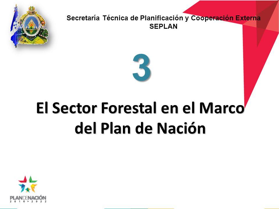 El Sector Forestal en el Marco del Plan de Nación 3 Secretaría Técnica de Planificación y Cooperación Externa SEPLAN