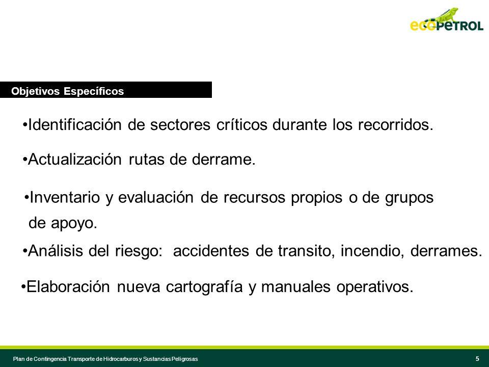 4 4 Objetivo Principal Actualizar las estrategias y procedimientos operativos para prevenir, atender y mitigar: derrames / incendios / explosiones / accidentes de transito en la actividad de transporte de hidrocarburos o sustancias peligrosas.