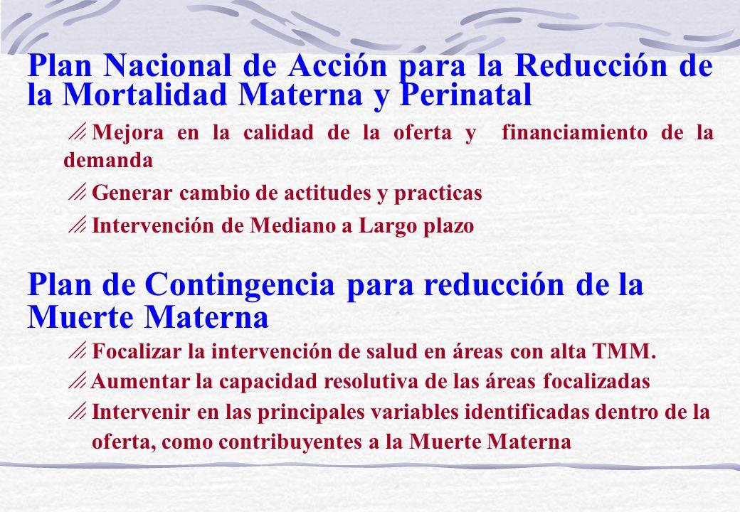 Proyecto Cobertura con Calidad Contribuir con la Reducción de la Mortalidad Materna mediante el fortalecimiento de la Competencia de los Servicios de Salud particularmente en lo que respecta a salud reproductiva.
