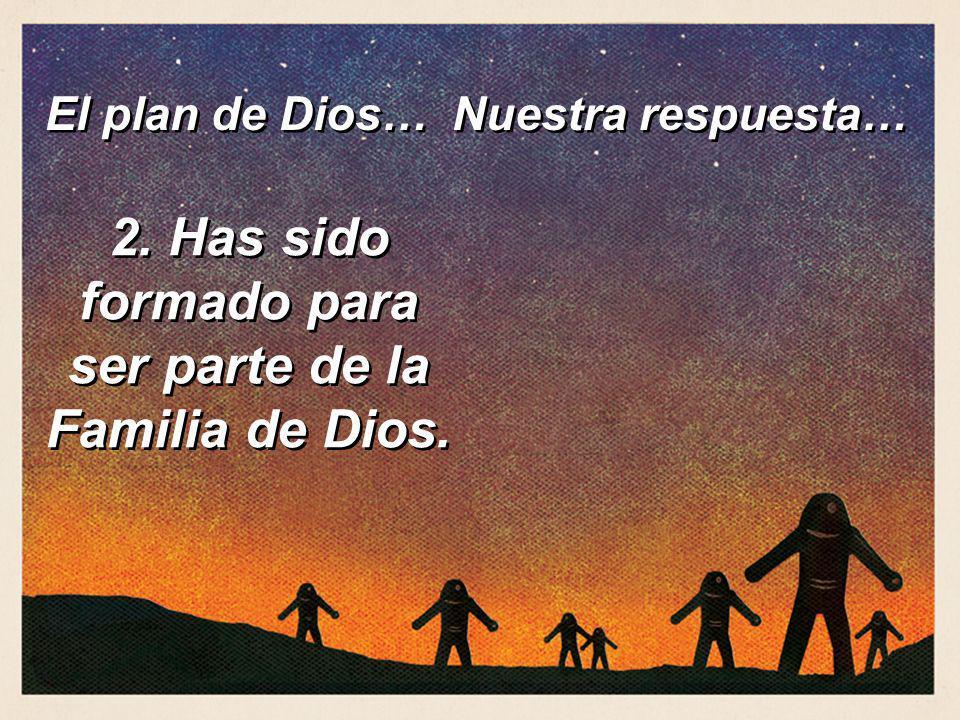 2. Has sido formado para ser parte de la Familia de Dios. El plan de Dios… Nuestra respuesta…