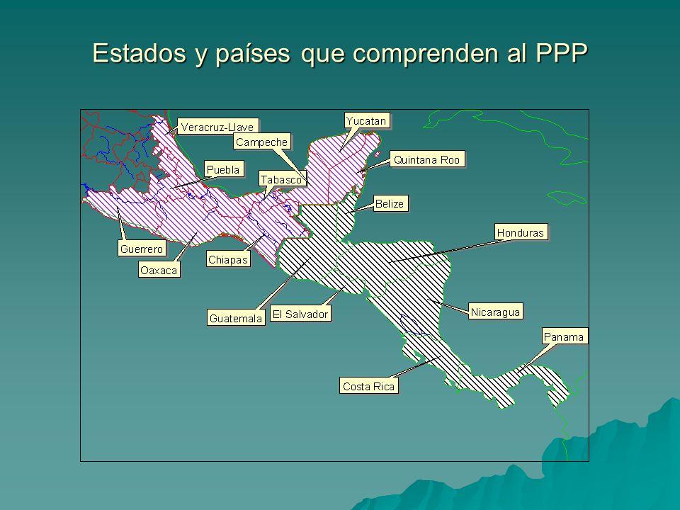 Estados y países que comprenden al PPP