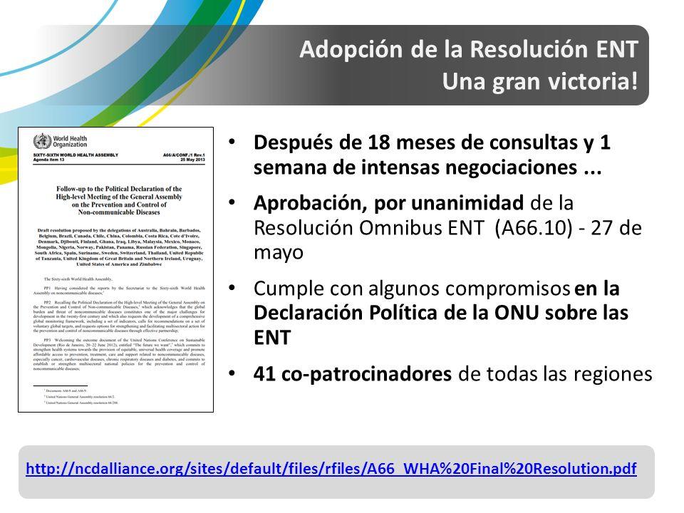 Adopción de la Resolución ENT Una gran victoria.