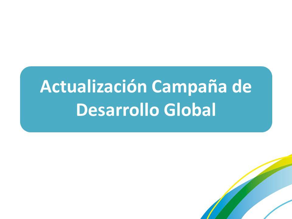 Actualización Campaña de Desarrollo Global