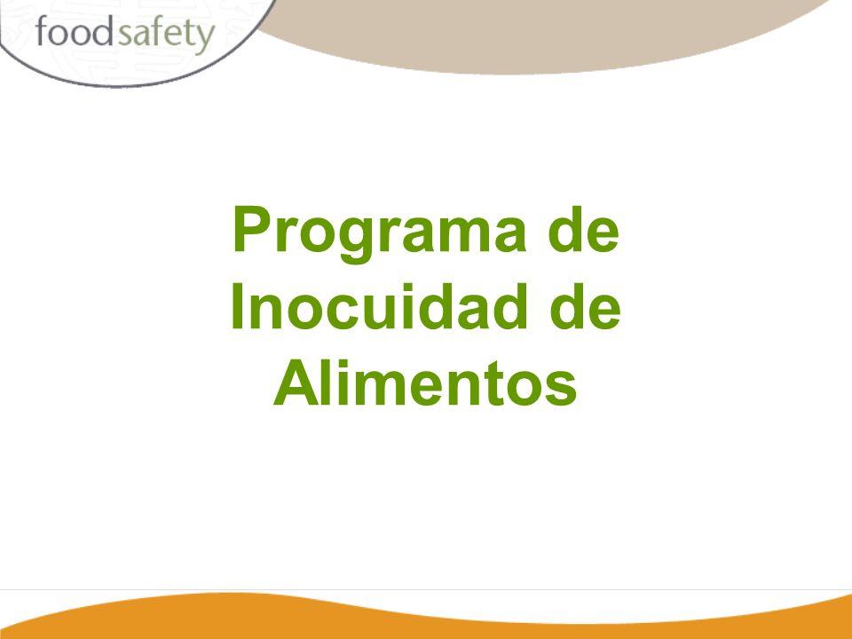 Programa de Inocuidad de Alimentos