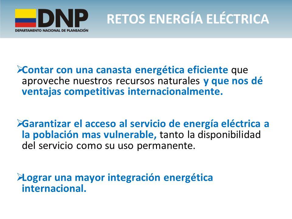 Contar con una canasta energética eficiente que aproveche nuestros recursos naturales y que nos dé ventajas competitivas internacionalmente. Garantiza