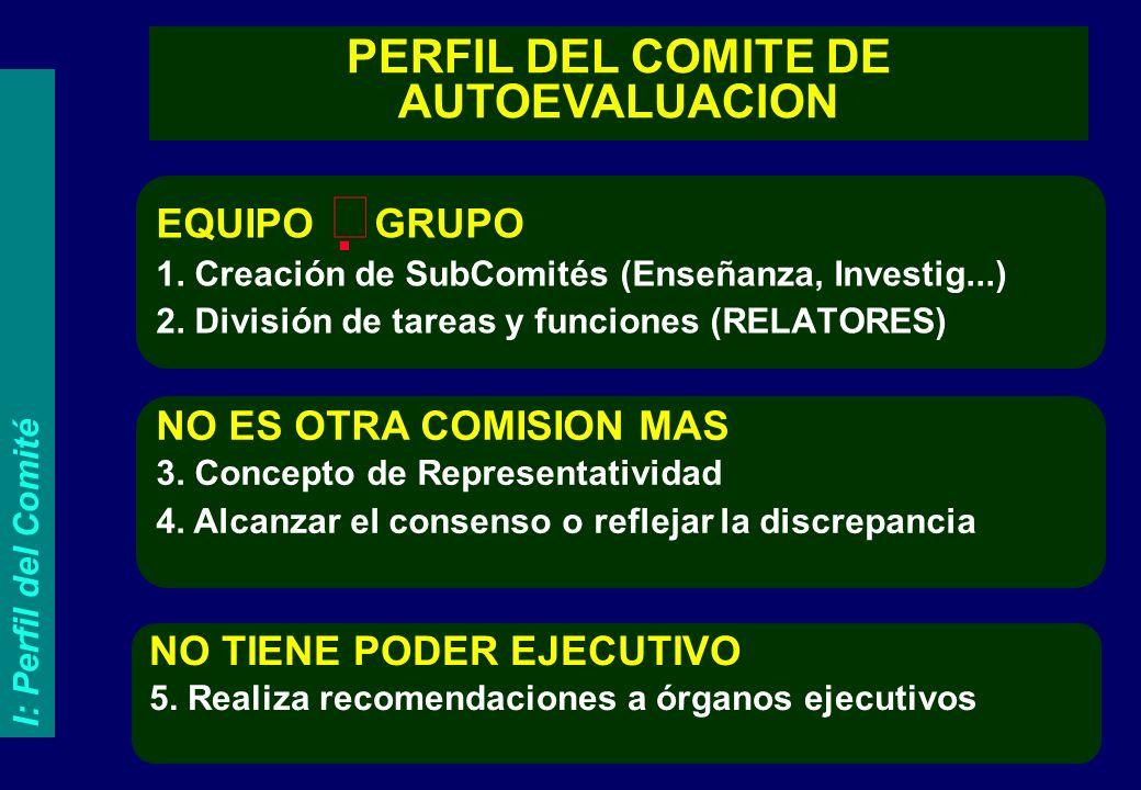 EQUIPO GRUPO 1.Creación de SubComités (Enseñanza, Investig...) 2.