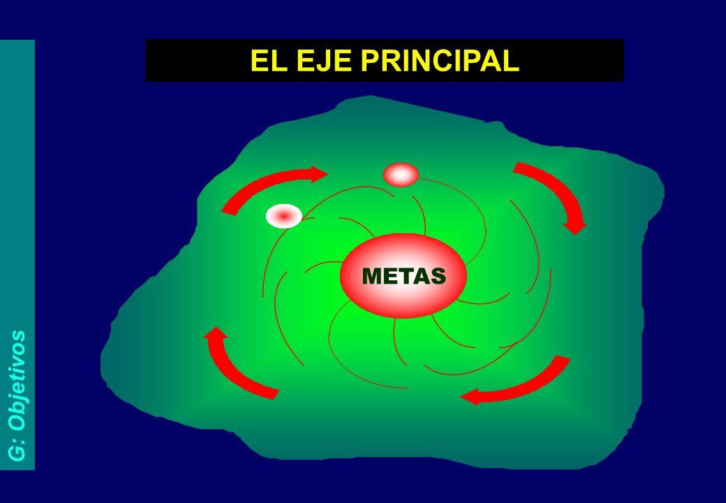 G: Objetivos METAS EL EJE PRINCIPAL
