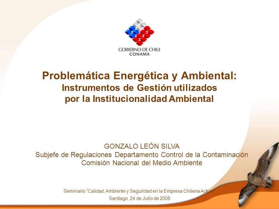 Contenidos 1.Instrumentos de Gestión Ambiental aplicables al sector eléctrico 2.Principales medidas asociadas a los planes y normas para el control de la contaminación por leña 3.Conclusiones