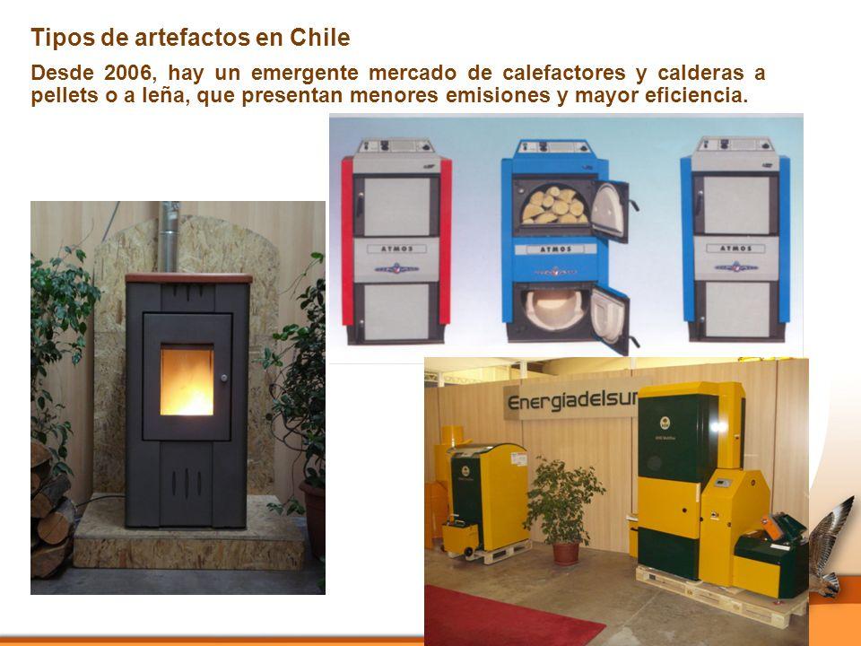 Desde 2006, hay un emergente mercado de calefactores y calderas a pellets o a leña, que presentan menores emisiones y mayor eficiencia.