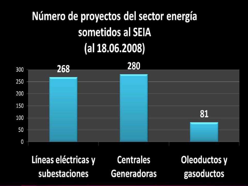 El sector energía representa un 23,5 % de la inversión sometida al SEIA