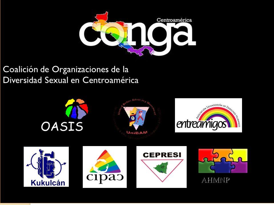 Coalición de Organizaciones de la Diversidad Sexual en Centroamérica OASIS AHMNP