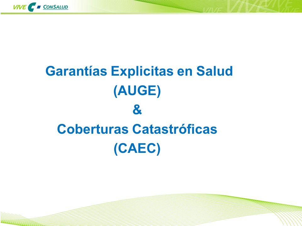 1 Garantías Explicitas en Salud (AUGE) & Coberturas Catastróficas (CAEC)