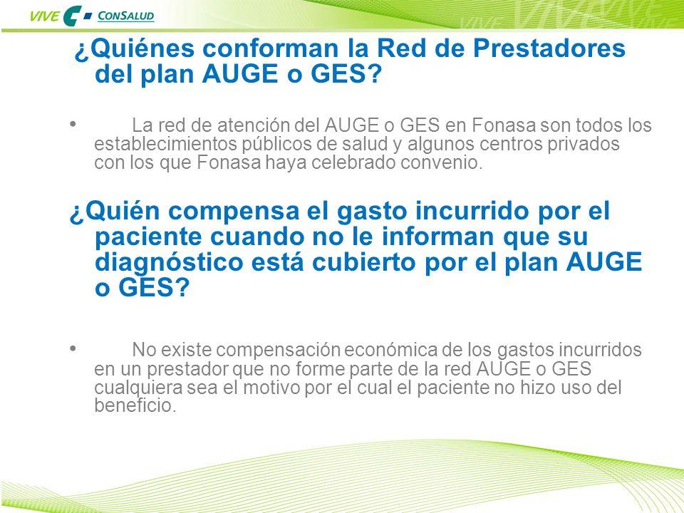 23 ¿Quiénes conforman la Red de Prestadores del plan AUGE o GES? La red de atención del AUGE o GES en Fonasa son todos los establecimientos públicos d