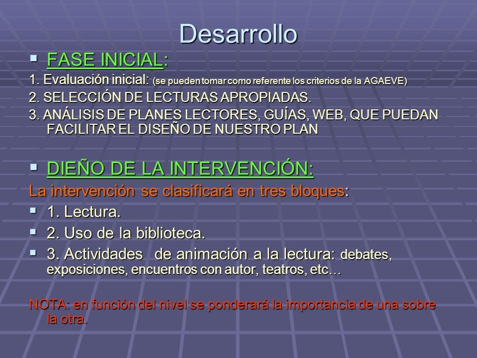 Desarrollo FASE INICIAL: FASE INICIAL: 1.