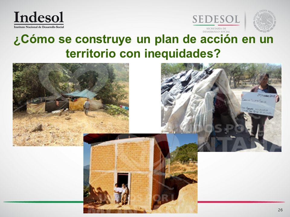 26 ¿Cómo se construye un plan de acción en un territorio con inequidades?