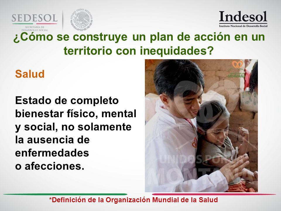 4 SALUD ¿Cómo se construye un plan de acción en un territorio con inequidades.
