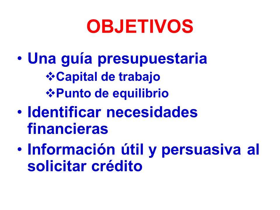 ALGUNOS CONSEJOS Anticipa las necesidades financieras Se claro y escueto en tus planteamientos No solicites más de lo necesario