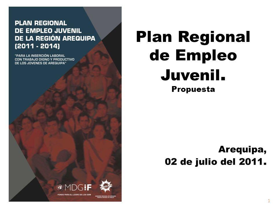 Plan Regional de Empleo Juvenil. Propuesta Arequipa, 02 de julio del 2011. 02 de julio del 2011. 1