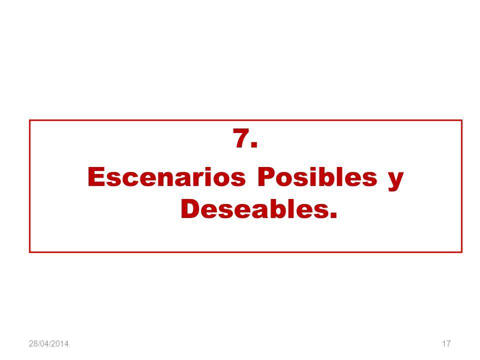 7. Escenarios Posibles y Deseables. 17 28/04/2014