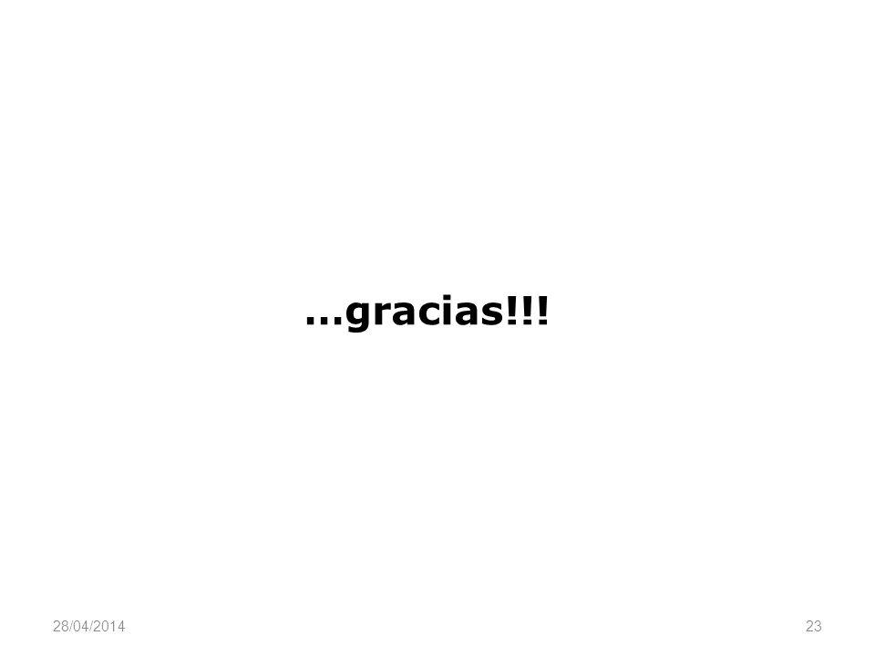 …gracias!!! 23 28/04/2014