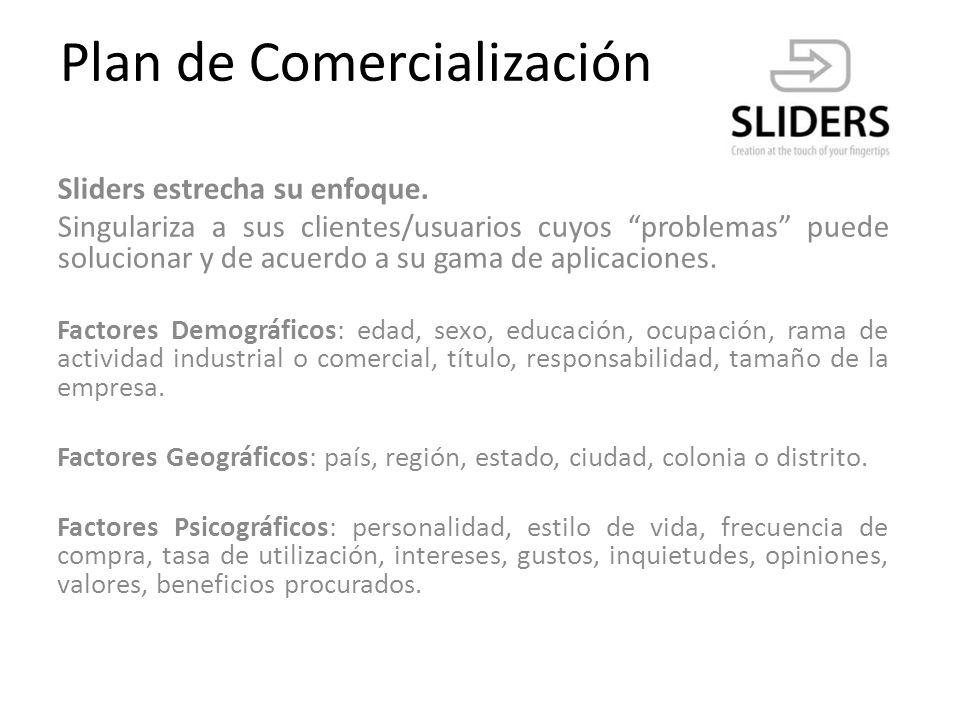 Plan de Comercialización Una estrategia de venta utilizada por Sliders será similar a la que utiliza la aplicación Whatsapp.