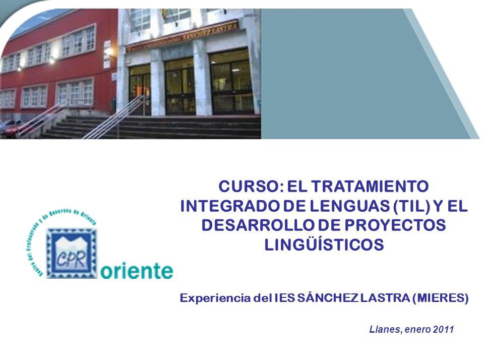 SESIÓN 1 CONTEXTO DEL PROYECTO 29 DOCENTES TODAS LAS LENGUAS DEL CURRÍCULO: Lengua castellana, Inglés, Francés, Lengua asturiana, Latín y Griego PROFESORADO DE MATERIAS NO LINGÜÍSTICAS ¿De dónde surge la iniciativa.