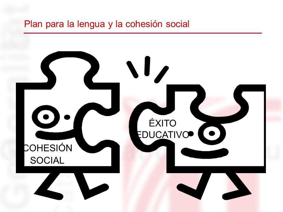 COHESIÓN SOCIAL ÉXITO EDUCATIVO Plan para la lengua y la cohesión social