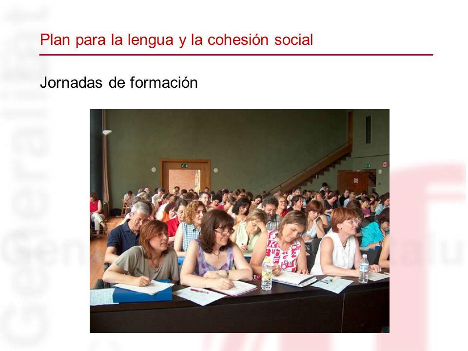 Jornadas de formación Plan para la lengua y la cohesión social