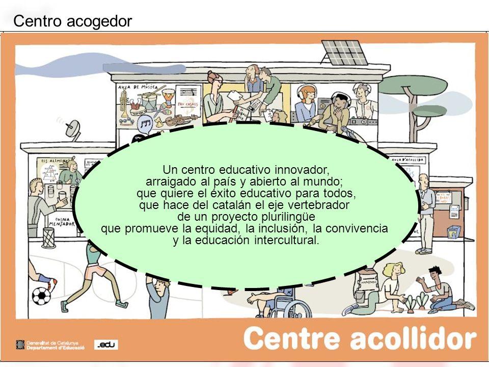 Un centro educativo innovador, arraigado al país y abierto al mundo; que quiere el éxito educativo para todos, que hace del catalán el eje vertebrador