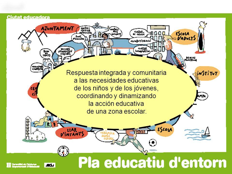 Respuesta integrada y comunitaria a las necesidades educativas de los niños y de los jóvenes, coordinando y dinamizando la acción educativa de una zon