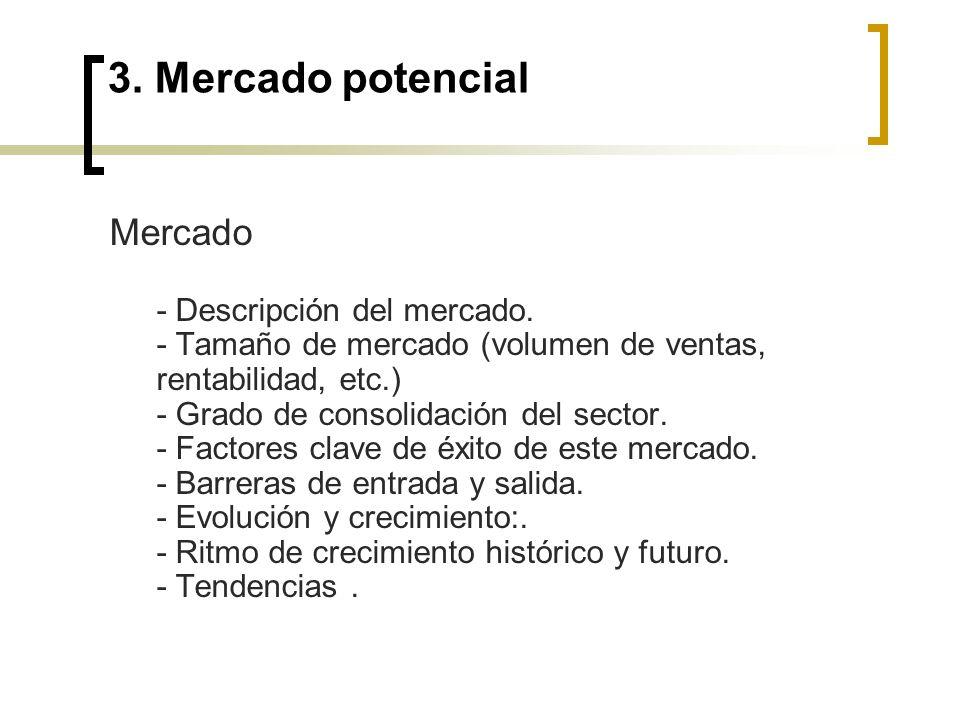 3.Mercado potencial Público objetivo - Segmentación de clientes en base a criterios objetivos.
