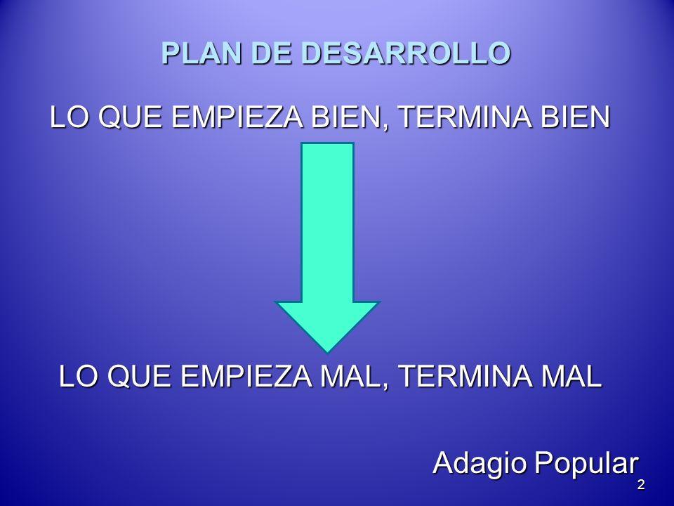 PLAN DE DESARROLLO LA PLANEACION ES UNA HERRAMIENTA PARA LA TOMA DE DECISIONES EN EL PRESENTE, PARA ESTAR PREPARADO PARA EL FUTURO.