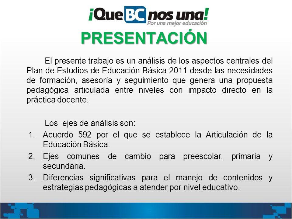 El presente trabajo es un análisis de los aspectos centrales del Plan de Estudios de Educación Básica 2011 desde las necesidades de formación, asesorí