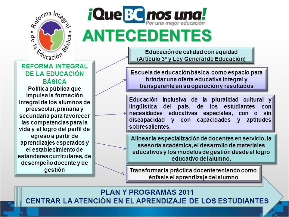 Educación de calidad con equidad (Artículo 3º y Ley General de Educación) Educación de calidad con equidad (Artículo 3º y Ley General de Educación) Es