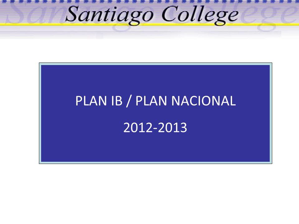PLAN IB / PLAN NACIONAL 2012-2013
