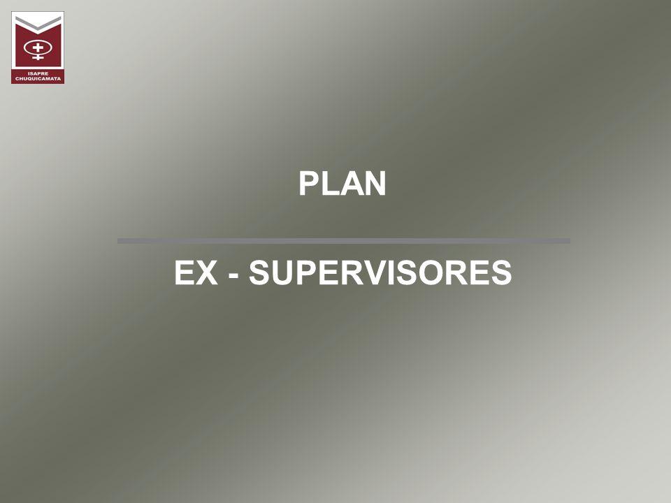 Plan de Salud Ex Supervisores Plan de Salud Grupal autofinanciable, que nace con el objeto de ofrecer a los Supervisores de Codelco Norte, una alternativa de cobertura en Salud al momento de su retiro de la Empresa.