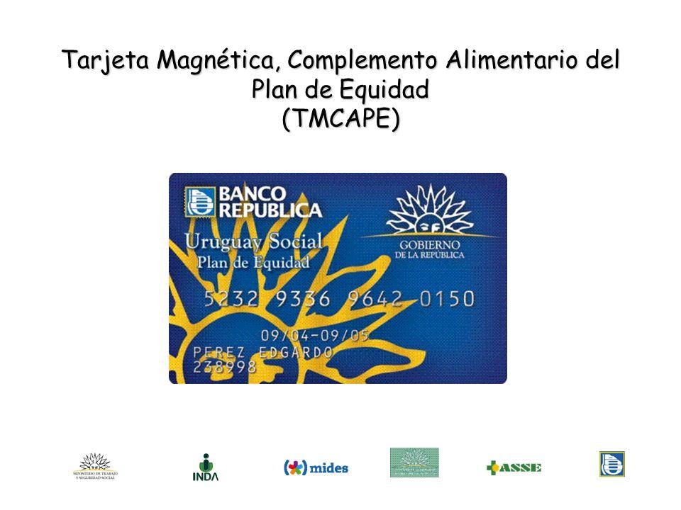 Tarjeta Magnética, Complemento Alimentario del Plan de Equidad (TMCAPE)
