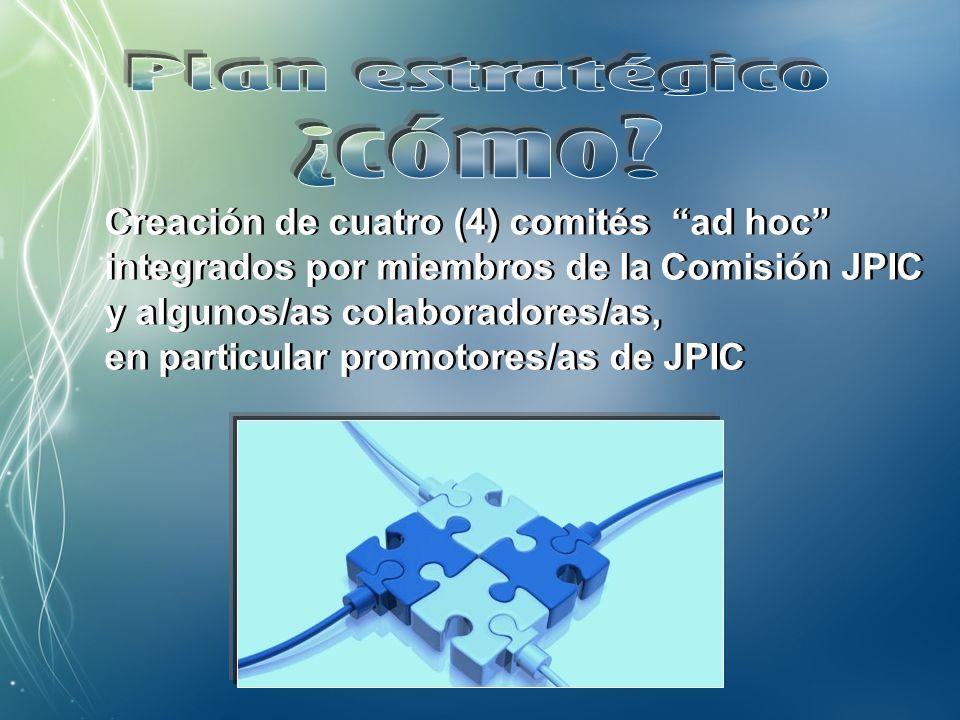 1. Promover la centralidad de la JPIC 2. Favorecer la preparación profesional 3.
