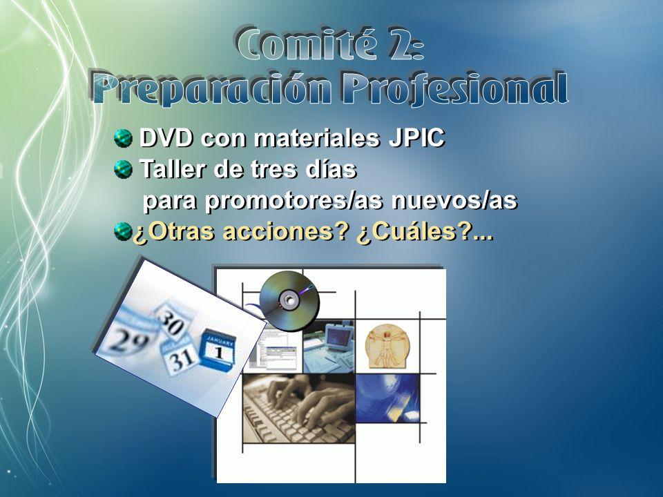 PPT y tríptico sobre la Comisión JPIC Dos tardes de encuentro con los gobiernos generales sobre el Plan estratégico Visitas a las Curias generales ¿Otras acciones.