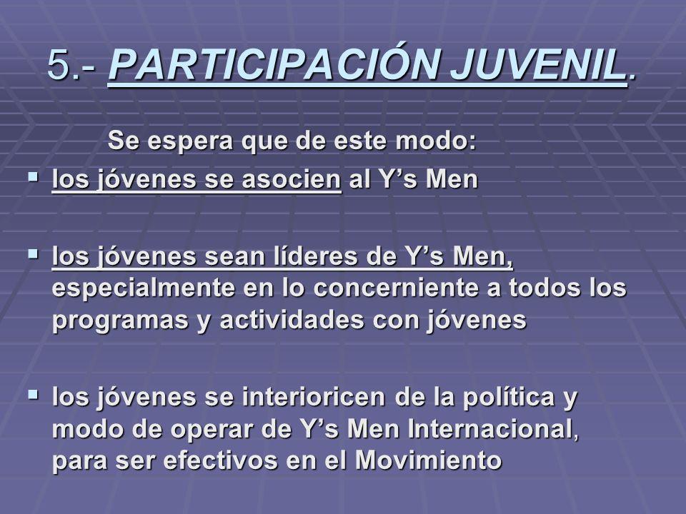5.- PARTICIPACIÓN JUVENIL.