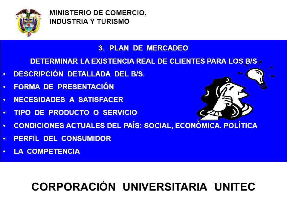 FRANCISCO CASTRO A POLITÉCNICO GRANCOLOMBIANO CENTRO DE INNOVACIÓN Y GESTIÓN EMPRESARIAL - CIGE 3.PLAN DE MERCADEO DETERMINAR LA EXISTENCIA REAL DE CL
