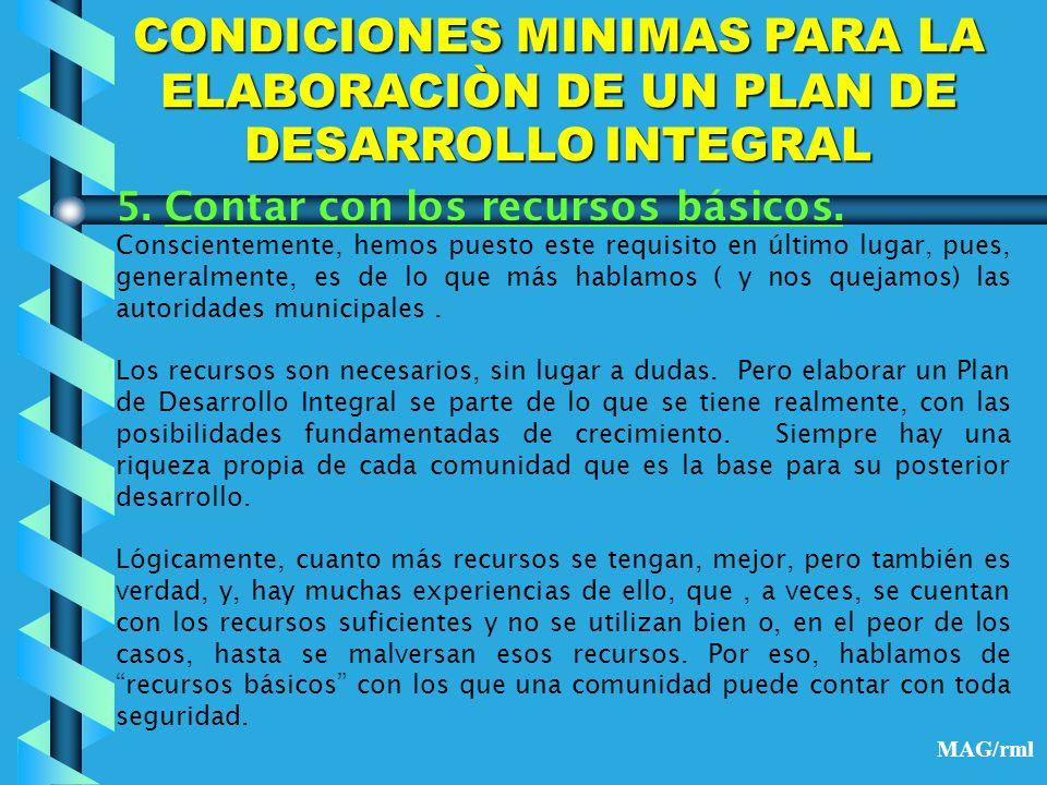 CARACTERISTICAS DEL PLAN DE DESARROLLO INTEGRAL 1.objetivos alcanzables asumidos por la población.