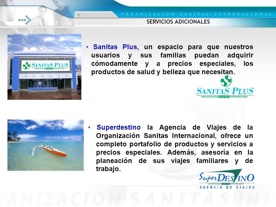 Superdestino la Agencia de Viajes de la Organización Sanitas Internacional, ofrece un completo portafolio de productos y servicios a precios especiales.